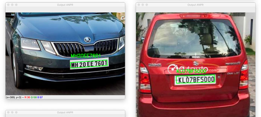 Number Plate Detection by DeepX